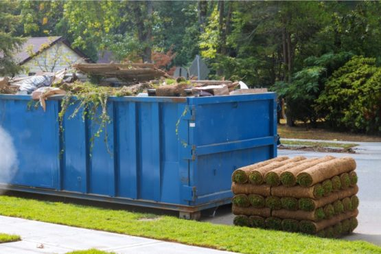 Image of a dumpster in lawrence MA