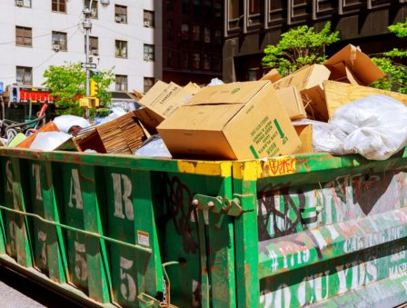 Image of a 30 yard dumpster in Boston MA