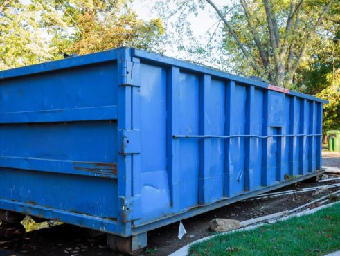 image of a large dumpster in Brockton MA