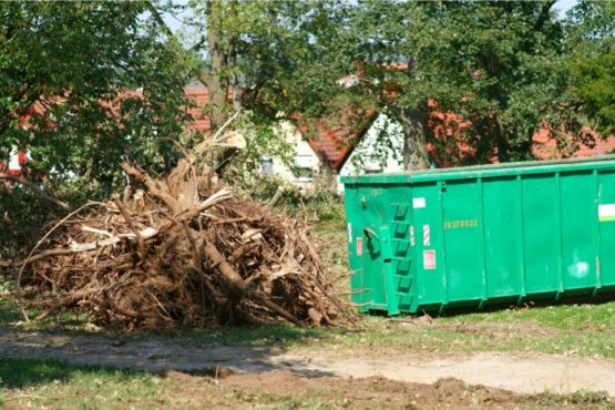 Image of a 30 yard dumpster rental in Springfield Massachusetts